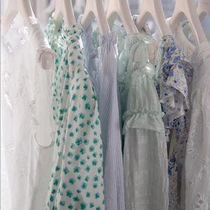 NWOT Rebecca Taylor Emerald Daisy Wrap Dress